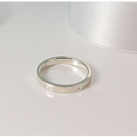 Tiffany Co Silver Notes Stacking Narrow Love Ring Band Size 6.5 Retired