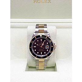 Rolex Submariner Black 16613 18K Yellow Gold & Steel Mint Condition 2006