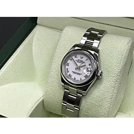 Rolex Ladies Datejust 179160 Stainless Steel White Dial Box & Papers