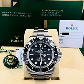 2019 Rolex Sea Dweller 126660 Black Ceramic Stainless Box & Papers