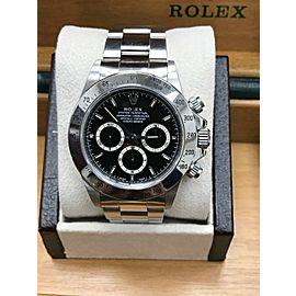 Rolex ZENITH Daytona 16520 Black Dial Stainless Steel Original Polish 1997