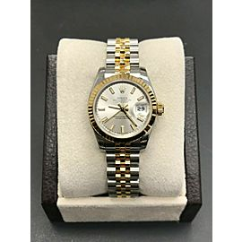 Rolex Ladies Datejust 179173 18K Yellow Gold & Stainless Box Papers