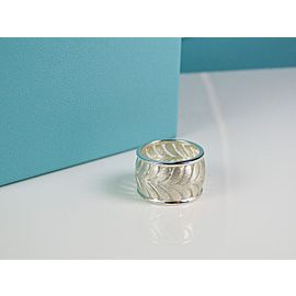 Tiffany & Co. Sterling Silver Villa Paloma Paisley Palm Wide Ring Band Size 5