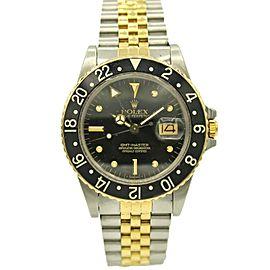 Men's Rolex GMT Master Date w/ Black Dial 16753
