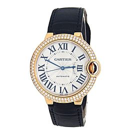 Cartier Ballon Bleu 18k Yellow Gold Diamond Bezel Automatic Ladies Watch 3002