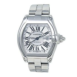 Cartier Roadster XL GMT Stainless Steel Automatic Men's Watch W62032X6