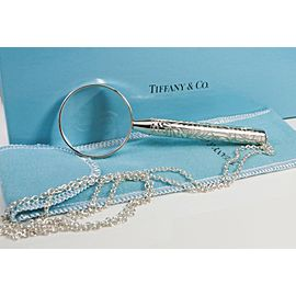 Tiffany & Co. Magnifying Glass with 30 inch Chain Sterling Silver Rare