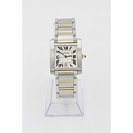 Cartier Tank Francaise 2302 Large 18K Yellow Gold & Stainless Steel