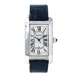 Cartier Tank Americaine 18k White Gold Automatic Ladies Watch W2603256