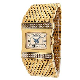 Bedat & Co Lady's Bedat No.33 338.333.809 18k Yellow Gold Quartz Diamonds Beige