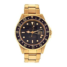 Rolex GMT Master II (E Serial) 18k Yellow Gold Automatic Men's Watch 16718