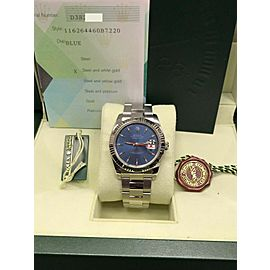 Rolex Datejust Turn o Graph 116264 Blue Dial Stainless Steel 18K Box & Papers