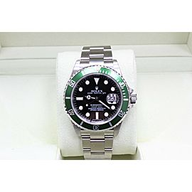 Rolex Submariner 16610 Anniversary Green & Black Kermit Box and Papers