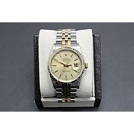 Rolex 16233 DateJust Champagne Dial 18K Yellow Gold & Stainless Steel