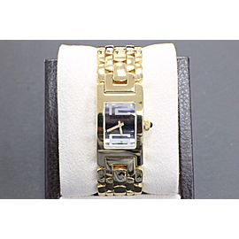 Audemars Piguet Promisse 18K Yellow Gold Ladies Blue Sapphire Cabochon Crown