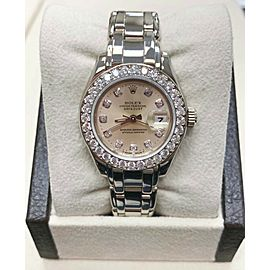 Rolex Ladies Pearlmaster 69299 Original Diamond Dial and Bezel 18K White Gold