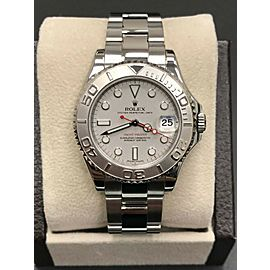 Rolex Midsize Yacht Master 168622 Stainless Steel & Platinum Mixed Serial