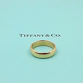Tiffany & Co Classic 18k Yellow Gold Wedding Band Ring 6mm