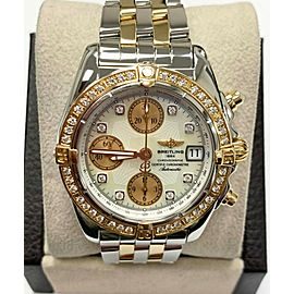 Breitling Galactic C13358 MOP Diamond Dial & Bezel 18K Rose Gold Steel Box Paper