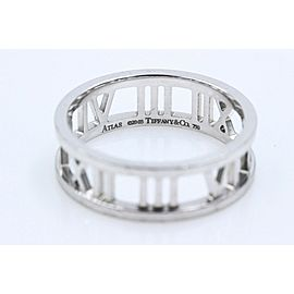 Tiffany & Co Atlas Open Band Ring in 18k White Gold