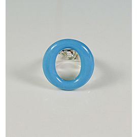 Tiffany & Co Sevillana Turquoise Silver Ring by Peretti