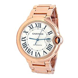 Cartier Ballon Bleu 18k Rose Gold Automatic Men's Watch WGBB0016