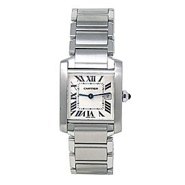 Cartier Tank Francaise Stainless Steel Automatic Ladies Watch W51011Q3