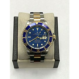 Rolex Submariner 16613 Blue Dial 18K Yellow Gold & Stainless Steel
