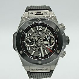 Men's Hublot Big Bang Unico Titanium w/ Gray Dial & Ceramic Bezel 411.NM.1170.RX
