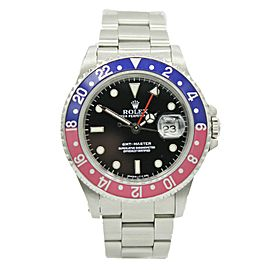 Rolex GMT-Master Date Pepsi Stainless Steel w/ Black Dial 16700