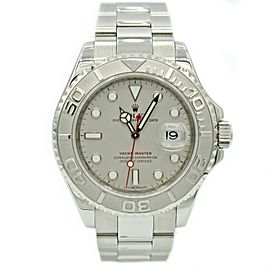 Men's Rolex Yacht-master 40mm Stainless Steel w/ Platinum Bezel 16622