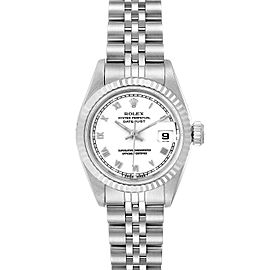 Rolex Datejust 26 Steel White Gold Roman Dial Ladies Watch 69174