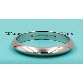 Tiffany & Co Platinum Wedding Band Ring 3mm