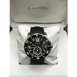 Cartier Calibre de Cartier Diver W7100055 3729 18K Rose Gold & Steel Box Papers