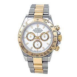 Rolex Daytona K Serial 18k Yellow Gold & Stainless Steel Automatic Watch 116523