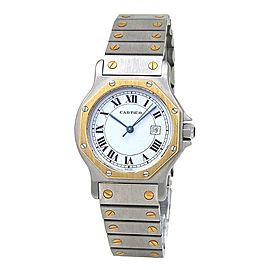 Cartier Santos Octagon 18k Yellow Gold & Stainless Steel Automatic Watch 2966
