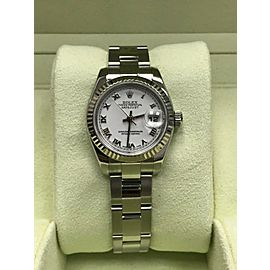 Rolex Ladies Datejust 179174 White Dial Stainless Steel & 18K Box & Papers 2011