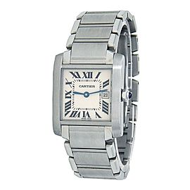 Cartier Tank Francaise Stainless Steel Quartz Ladies Watch W51011Q3