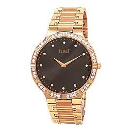 Piaget Dancer 18k Rose Gold Diamond Bezel Hand Winding Men's Watch P10444
