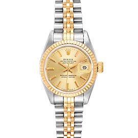 Rolex Datejust Steel Yellow Gold Jubilee Bracelet Ladies Watch 69173