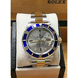 Rolex 16613 Submariner Serti Diamond Dial 18K Yellow Gold & Steel