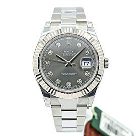 Men's Rolex Datejust II 41mm Stainless Steel w/ Rhodium Diamond Dial 116334
