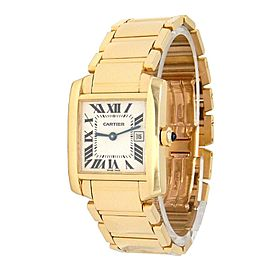 Cartier Tank Francaise 18k Yellow Gold Swiss Quartz Ladies Watch W50014N2