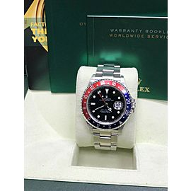 Rolex GMT Master II 16710 Pepsi Red and Blue Stainless Steel Unpolished MINT