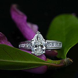 Precious 14k White Gold Engagement Ring with 2.57ct. TCW Diamonds
