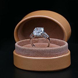 Platinum AGI Certified Engagement ring with 5.58ct. Diamonds