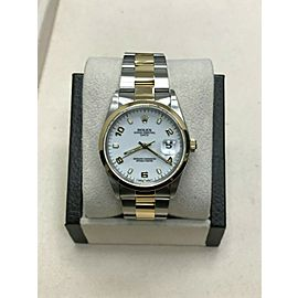 Rolex Date 15203 White Dial 18K Yellow Gold & Stainless Steel