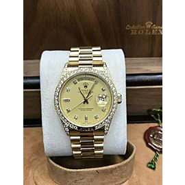 Rolex President Day Date 18138 Diamond Crown Edition 18K Yellow Gold VERY RARE