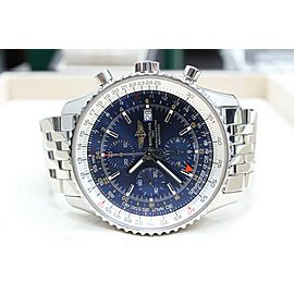 Breitling Navitimer 1 Blue Dial A24322 Stainless Steel