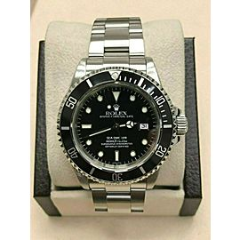Rolex Sea Dweller 16600 Black Dial Stainless Steel Watch 40mm